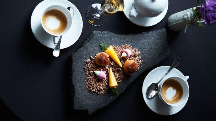 petit fours at our Michelin star restaurant Kokkeriet, Copenhagen - Denmark.