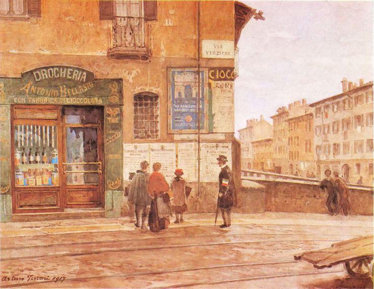 Il ponte di Porta Vittoria, di Arturo Ferrari, Milano, 1917.