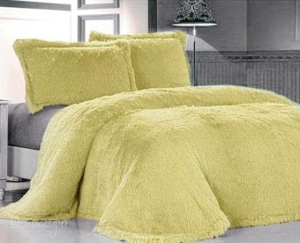 Купить покрывало из искусственного меха ЛАМА желтое 160х220 от производителя Tango (Китай)
