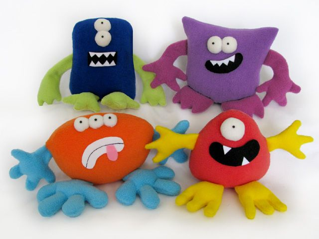 Monsters MIX & MATCH plushies pattern | Funky Friends Factory