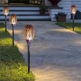 Solar Path Dancing Flame Tiki Torch Light (Two Pack)