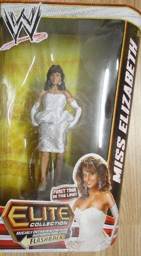 """WWE Elite Series 19 Miss Elizabeth Action Figure by Mattel. $31.69. Kids can recreate their favorite WWE matches. Collect all your favorites WWE Superstars. Bring home the officially licensed WWE action. Features extreme articulation, amazing accuracy, and authentic details. WWE Series #19 action figures in 7"""" Superstar Scale. From the Manufacturer World Wrestling Entertainment Figure Series #19: Bring home the action of the WWE. Kids can recreate their favor..."""