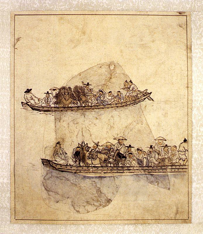 Depiction of Danwonpungsokdocheop(25-leaf album of genre paintings by Kim Hongdo)