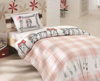 Купить постельное белье RANFORCE MALDINE розовое 50х70 1,5-сп от производителя Altinbasak (Турция)