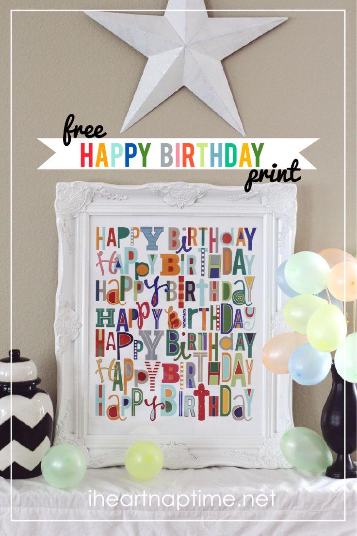 free happy birthday print at i heart naptime.