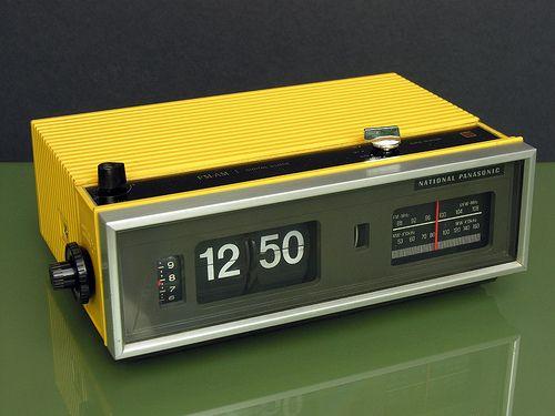 National Panasonic Radio Alarm Clock