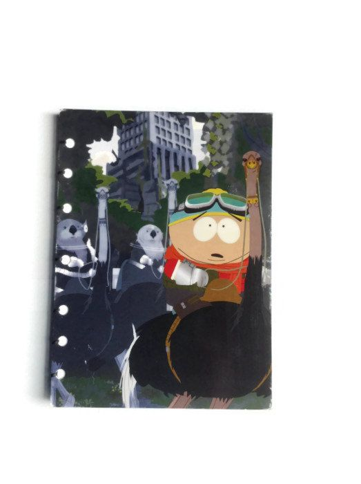 South Park coptic journal handmade reworked DVD box from season 10 - 128 plain white pages stan kyle cartman kenny - pinned by pin4etsy.com