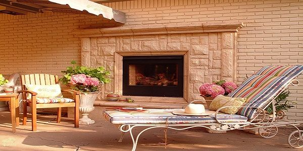 Luxurious and Elegant White Stone Fireplace Design