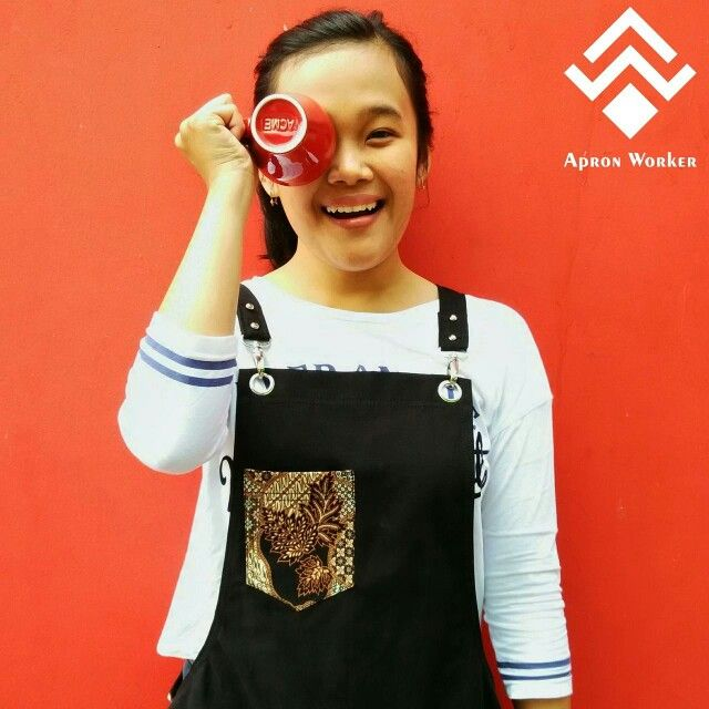 Handmade apron for coffeeshop, more picture check out our account instagram apron_worker, thanks !