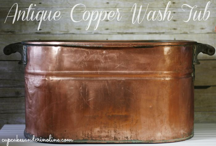 Antique-copper-wash-tub from cupcakesandcrinoline.com