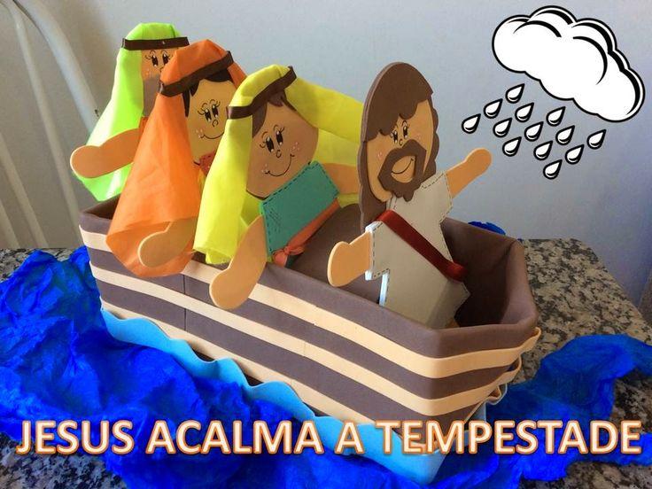 Arte do Céu - Dani Michel: MOLDE - JESUS ACALMA A TEMPESTADE