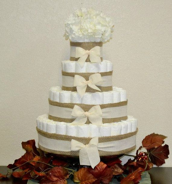 How To Diaper Cakes For Baby Showers