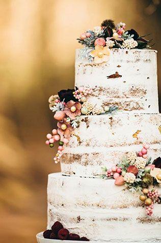 свадебные торты с открытыми коржами