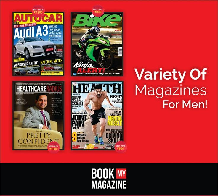 Calling all the men, get variety of magazines related to automobiles, entrepreneurship, heath, fashion, bikes and more. Get discounts up to 50% off on each magazine!  Order Now at www.bookmymagazine.com #BookMyMagazine #SubscribeNow