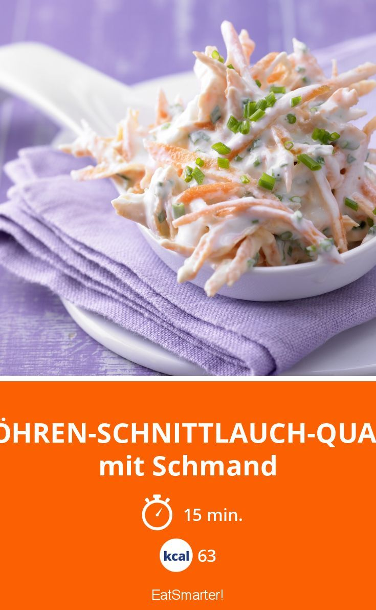 Dieser leckere Möhren-Schnittlauch-Quark ist eine super Ergänzung zu jeder Mahlzeit!