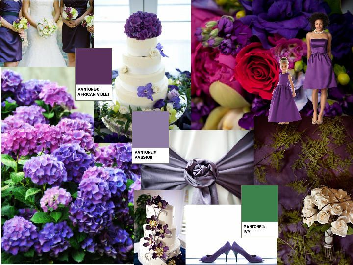 Purple Heart : PANTONE WEDDING Styleboard : The Dessy Group