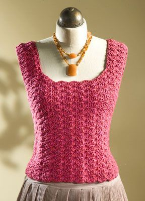 Free pattern for crochet tank top.