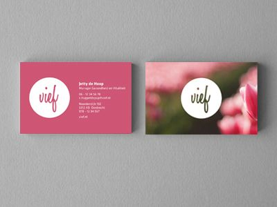 Fabulous business card // Vief Business Card