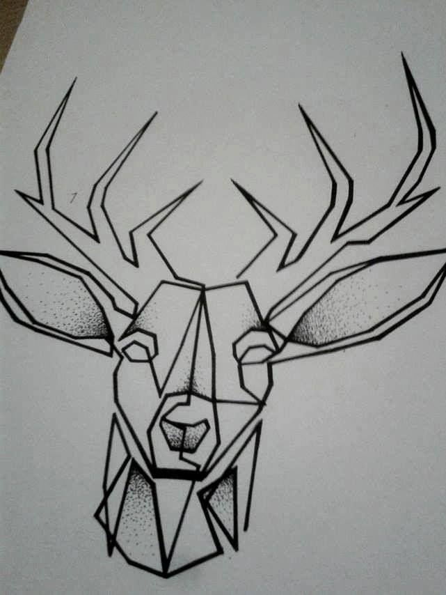 #deer #geometric #deertattoo #geometrictattoo #tattooproject — s uživateli Božidar Jovanović