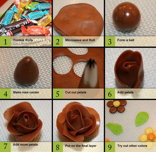 Tootsie Roll Roses  cute!  by emoticakes