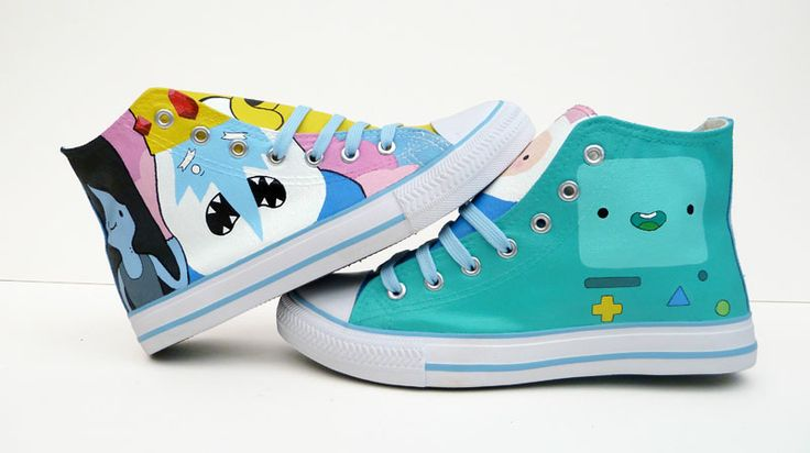 adventure time shoes by ponychops! way cute :3