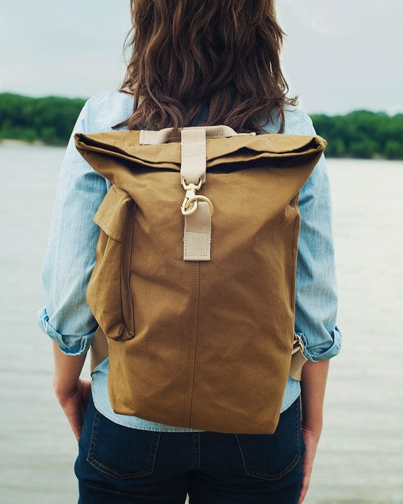 Talant Day Bag USA Made Canvas Backpack by TalantTrade on Etsy
