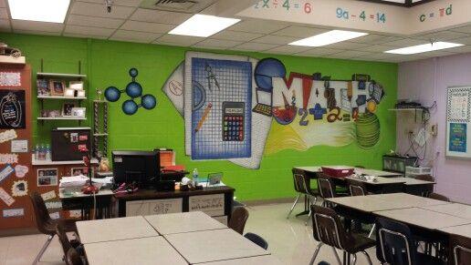 Math classroom mural leader in me pinterest math for Classroom mural