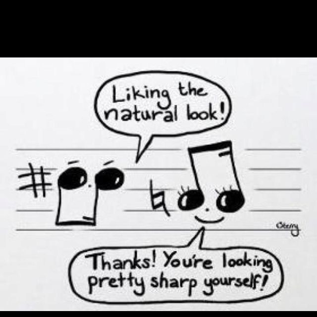 Haha band humor.
