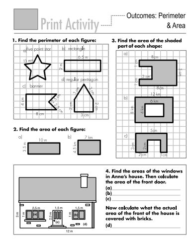 area and perimeter square unit worksheet pdf