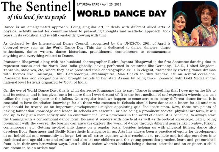 Pranaame on World Dance Day