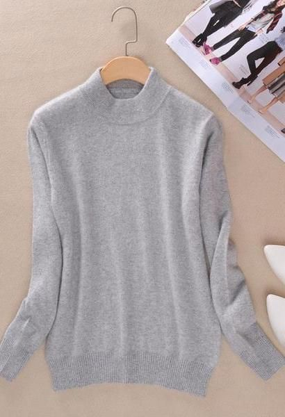 2a413dab7e5 3XL Plus Size Brand Women Cashmere Sweaters Autumn Winter Turtleneck  Pullovers Fashion Slim Knitted Wool Sweater Pullover Tops
