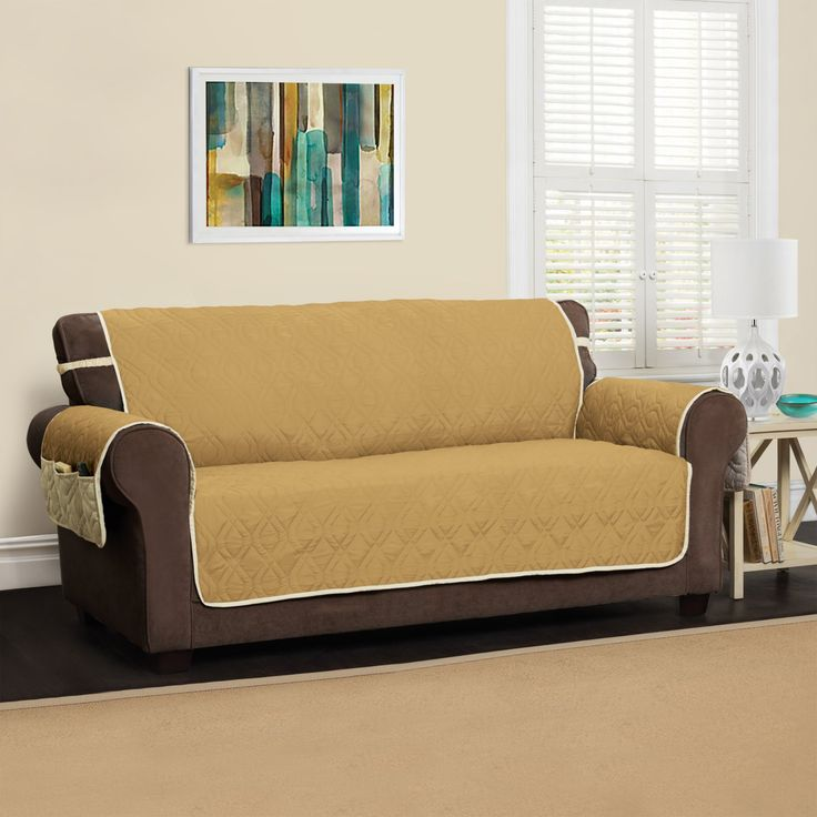 Jeffrey Home Five Star Sofa Protector - 9381SOFABLUE/IVORY