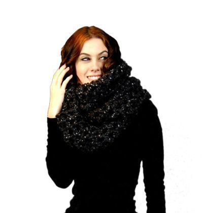 Arts, Bling, blingwear, crochet, Etsy, Fiber Arts, Knitting, Knitting and Crochet, Midwest Crochet, oversized infinity scarf