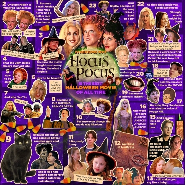 "23 Reasons Why ""Hocus Pocus"" Is The Best Halloween Movie Of All Time. So fricken true."