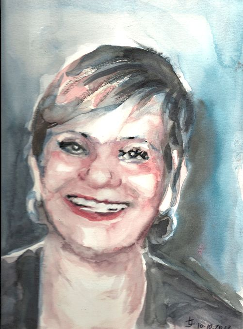 Watercolor original by Joanna Lazuchiewicz 2014