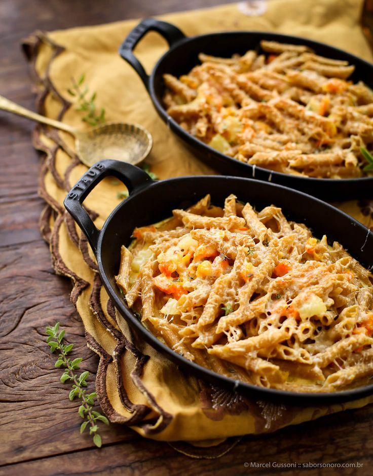 receitas macarrão de forno com legumes