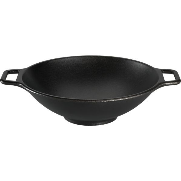 Lodge® Cast Iron Wok in Woks | Crate and Barrel