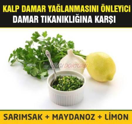 sarmısak, limon , maydanaoz kürü