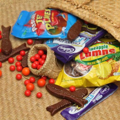 NewZealanders' love their sweets, especially Pineapple Lumps, Chocolate Fish, Jaffas and Jet Planes.