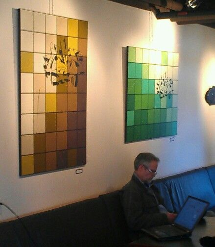 Cubist Art /Modern Art, at Mount Currie Coffee Co., Internet Cafe across from Pemberton Gateway Village Suites Hotel