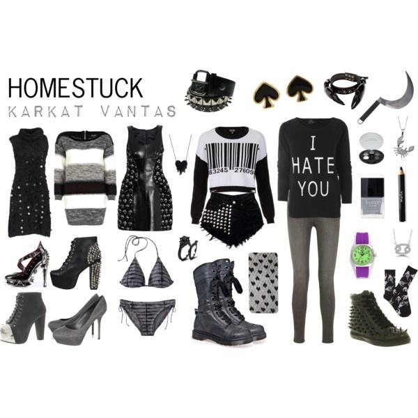 Homestuck Fashion: Karkat Vantas by khainsaw on Polyvore