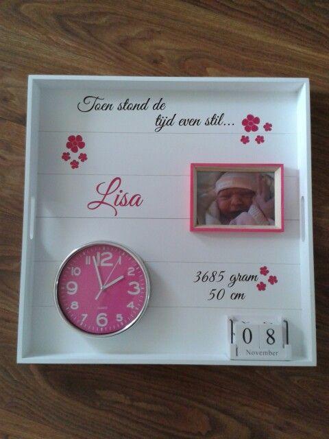 Geboortebord voor onze kleindochter!!!