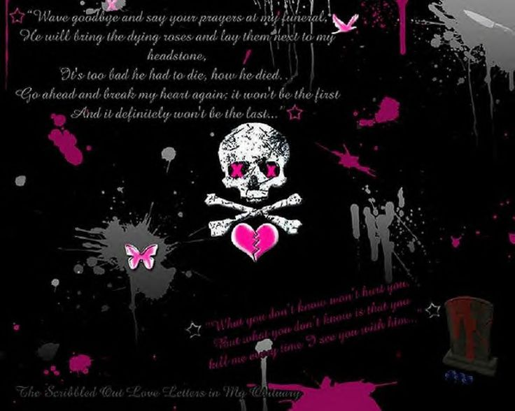 girly gothic backgrounds and wallpaper - photo #10