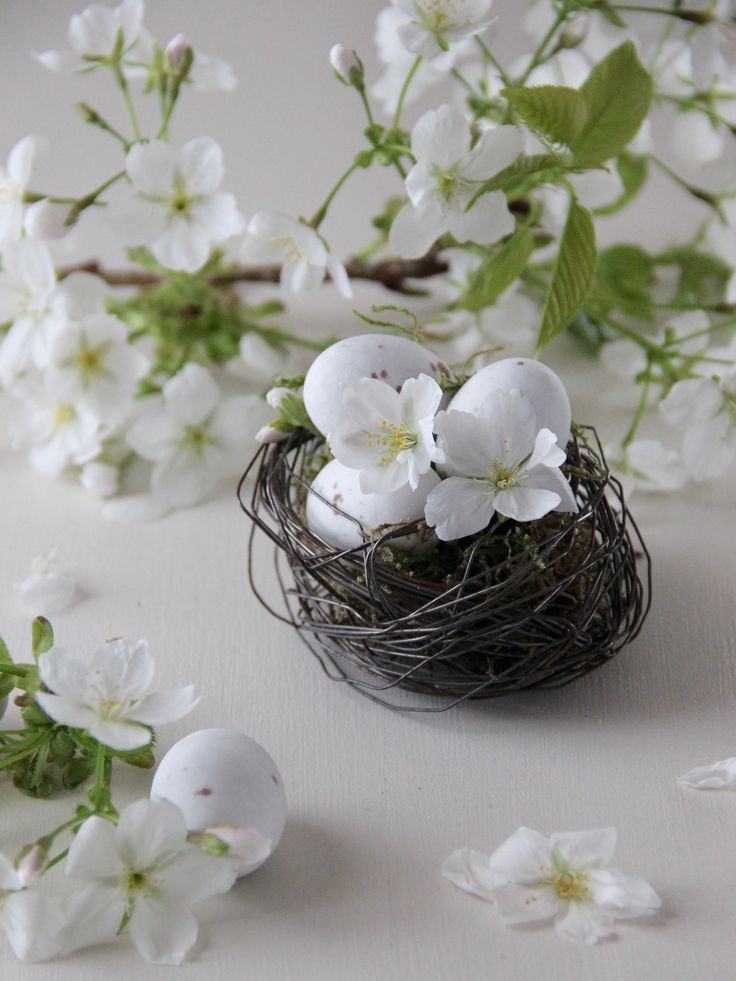 Easter NestIl nido è il simbolo della propria casa, dello star bene con chi si ama, di protezione  e di rinascita.I nidi sono realizzati in fil di ferro ed hanno all'interno del muschio , due ovetti di cioccolata e una piuma o una farfallina stampata su spartito musicale Belli da utilizzare come decorazioni pasquali e come centrotavola e segnaposto misurano:  10x9cm Sino accuratamente confezionati in confezione regalo