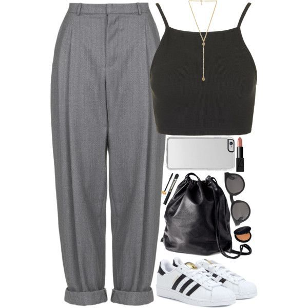 Trendy Sneakers 2017/ 2018 : A fashion look from March 2015 featuring Topshop tops, Boutique pants and adidas