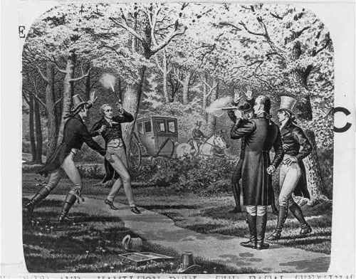 The-Burr-amp-Hamilton-Duel-July-11-1804-Weehawken-New-Jersey-NJ-Carriage-Horse