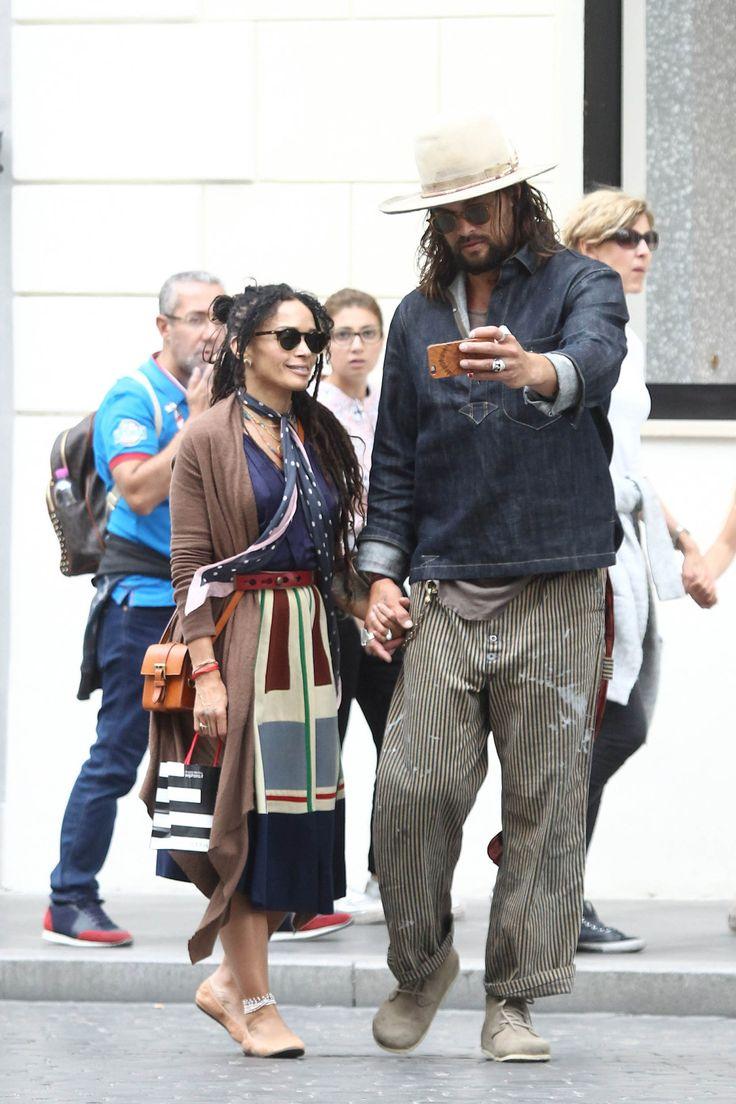 Love has no color  ---  Jason Momoa with his beautiful wife, Lisa Bonet
