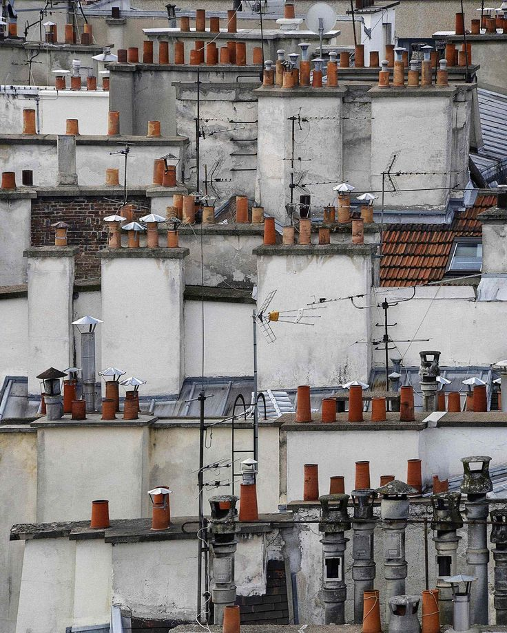 MICHAEL WOLF PHOTOGRAPHY abstract parisian rooftops