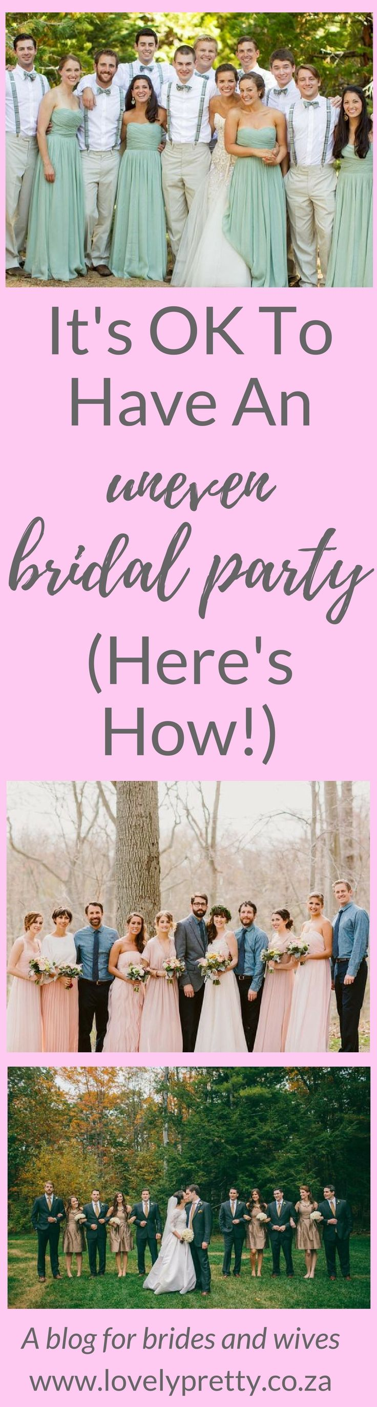 Having more bridesmaids than groomsmen (or vice versa) is totally ok. You just have to be creative! | Lovely Pretty | A blog for brides and wives