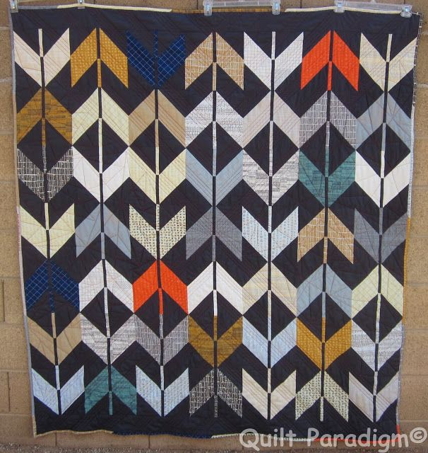 A manly quilt with link to block instructions | Quilt Paradigm